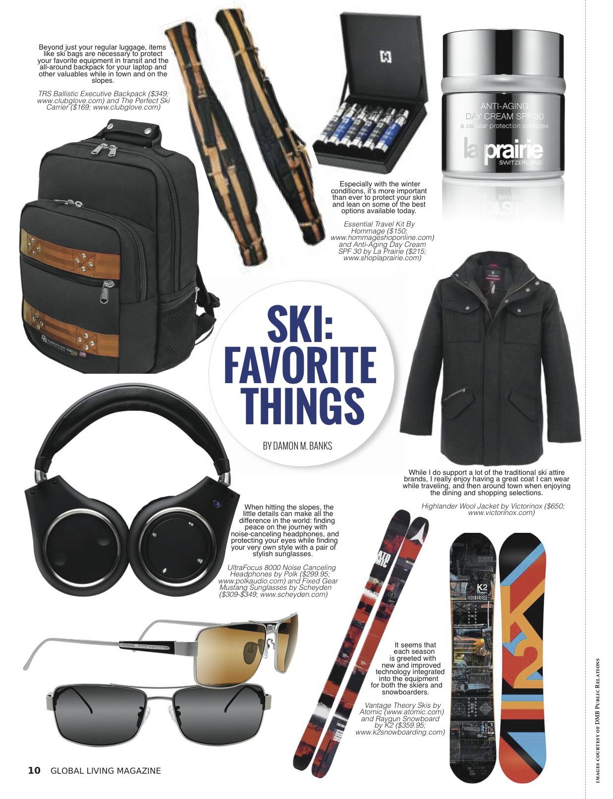 Global Living Magazine | Ski Getaways | By Damon M. Banks
